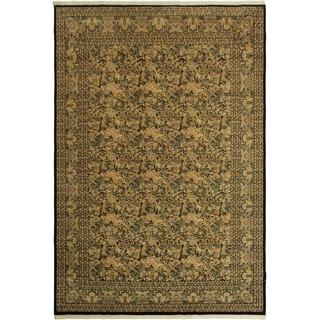 Pak-Persian Marta Black/Black Wool Rug (9'10 x 14'3) - 9 ft. 10 in. x 14 ft. 3 in.