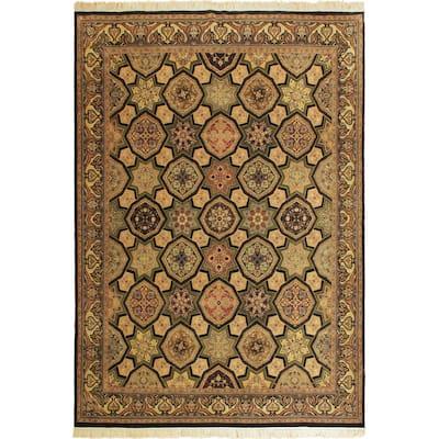 Firdous Pak-Persian Josefina Multi/Drk. Blue Wool Rug (10'1 x 13'1) - 10 ft. 1 in. x 13 ft. 1 in. - 10 ft. 1 in. x 13 ft. 1 in.