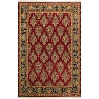 Tabriz Pak-Persian Lana Red/Drk. Blue Wool Rug (10'0 x 14'7) - 10 ft. 0 in. x 14 ft. 7 in.