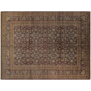 Pak-Persian Francine Aubergine/Aubergine Wool Rug (10'0 x 14'4) - 10 ft. 0 in. x 14 ft. 4 in.