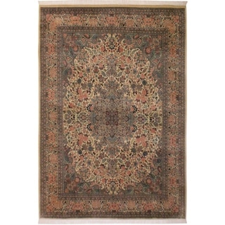 Basarabian Pak-Persian Pricilla Ivory/Ivory Wool Rug (9'0 x 12'5) - 9 ft. 0 in. x 12 ft. 5 in.