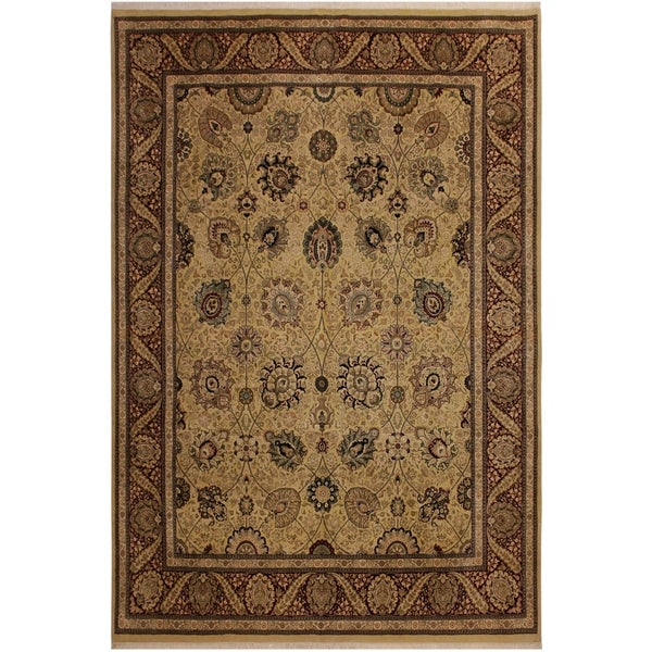 Pak-Persian Verda Ivory/Red Wool Rug (8'0 x 10'2) - 8 ft. 0 in. x 10 ft. 2 in.