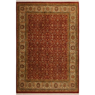 Pak-Persian Alene Orange/Ivory Wool Rug (8'1 x 9'10) - 8 ft. 1 in. x 9 ft. 10 in.