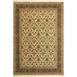 Kazveen Pak-Persian Shawn Ivory/Drk.green Wool Rug (9'10 x 14'2) - 9 ft. 10 in. x 14 ft. 2 in.