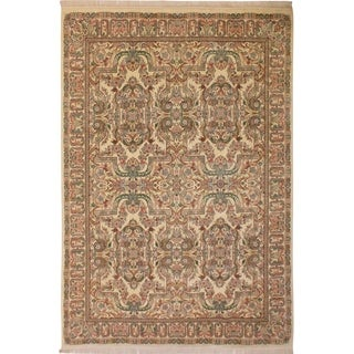 Abusson Pak-Persian Reta Ivory/Ivory Wool Rug (9'1 x 12'3) - 9 ft. 1 in. x 12 ft. 3 in.