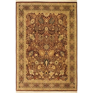 Shahid Pak-Persian Elyse Red/Blue Wool Rug (9'0 x 12'4) - 9 ft. 0 in. x 12 ft. 4 in.