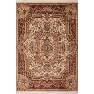 Das Pak-Persian Christop Ivory/Lt. Brown Wool Rug (8'1 x 10'6) - 8 ft. 1 in. x 10 ft. 6 in.