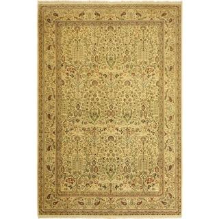 Pak-Persian Bebe Ivory/Ivory Wool Rug (9'4 x 13'6) - 9 ft. 4 in. x 13 ft. 6 in.