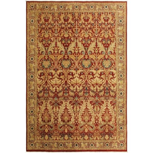 Istanbul Elisa Red/Tan Wool Rug (10'0 x 13'8) - 10 ft. 0 in. x 13 ft. 8 in.