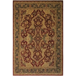 Agra Istanbul Liza Red/Blue Wool Rug (9'4 x 11'11) - 9 ft. 4 in. x 11 ft. 11 in.