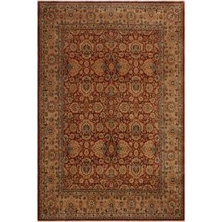Istanbul Carole Rust/Tan Wool Rug (8'0 x 10'0) - 8 ft. 0 in. x 10 ft. 0 in.
