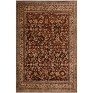 Istanbul Naomi Rust/Ivory Wool Rug (8'1 x 9'10) - 8 ft. 1 in. x 9 ft. 10 in.