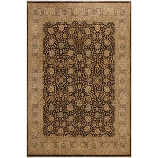 Istanbul Constanc Brown/Tan Wool Rug (8'0 x 10'1) - 8 ft. 0 in. x 10 ft. 1 in.