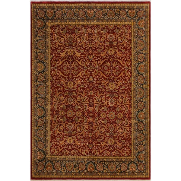 Istanbul Geneva Red/Blue Wool Rug (7'11 x 10'4) - 7 ft. 11 in. x 10 ft. 4 in.