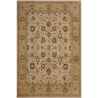 Kashan Istanbul Dan Ivory/Tan Wool Rug (8'3 x 10'2) - 8 ft. 3 in. x 10 ft. 2 in.