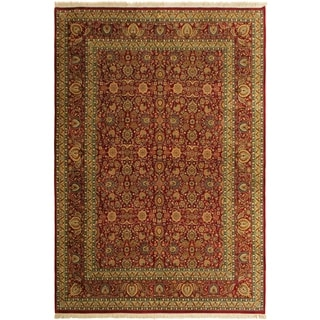 Pak-Persian Dustin Red/Blue Wool Rug (10'0 x 14'3) - 10 ft. 0 in. x 14 ft. 3 in.