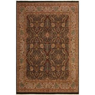 Istanbul Sherri Brown/Lt. Gray Wool Rug (8'3 x 10'2) - 8 ft. 3 in. x 10 ft. 2 in.