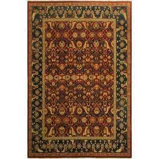 Istanbul Melba Drk. Red/Blue Wool Rug (10'0 x 13'8) - 10 ft. 0 in. x 13 ft. 8 in.