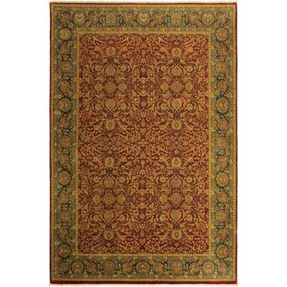 Istanbul Sumiko Red/Teal Wool Rug (10'1 x 14'1) - 10 ft. 1 in. x 14 ft. 1 in.