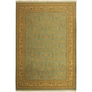 Istanbul Guadalup Blue/Tan Wool Rug (10'0 x 14'3) - 10 ft. 0 in. x 14 ft. 3 in.