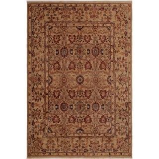 Kashan Istanbul Jennie Tan/Tan Wool Rug (8'0 x 10'0) - 8 ft. 0 in. x 10 ft. 0 in.