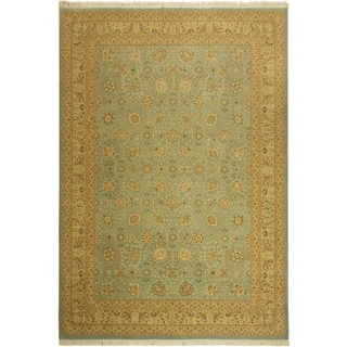 Istanbul Leland Blue/Ivory Wool Rug (10'0 x 14'3) - 10 ft. 0 in. x 14 ft. 3 in.