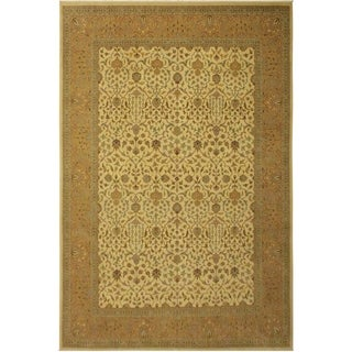 Istanbul Yuriko Ivory/Gold Wool Rug (9'4 x 12'5) - 9 ft. 4 in. x 12 ft. 5 in.