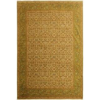 Vegtable Dye Istanbul Cara Lt. Gray/Green Wool Rug (10'3 x 14'5) - 10 ft. 3 in. x 14 ft. 5 in.