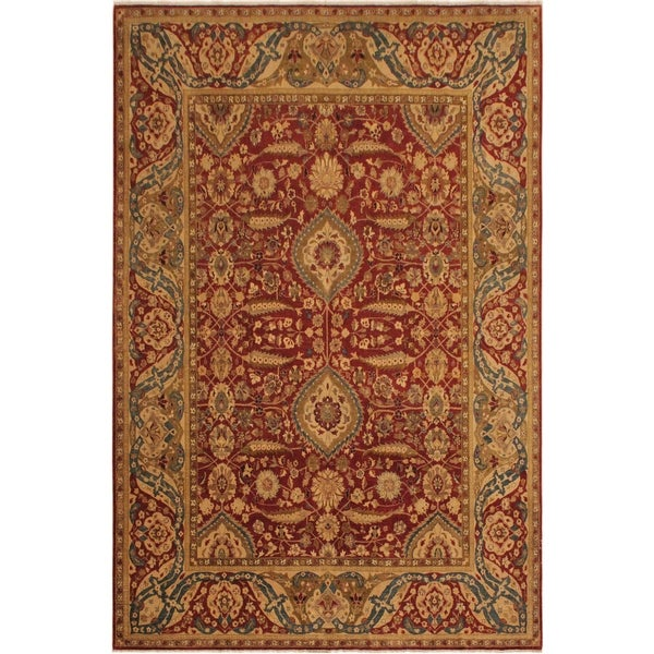 Istanbul Keiko Rust/Gold Wool Rug (9'5 x 11'4) - 9 ft. 5 in. x 11 ft. 4 in.