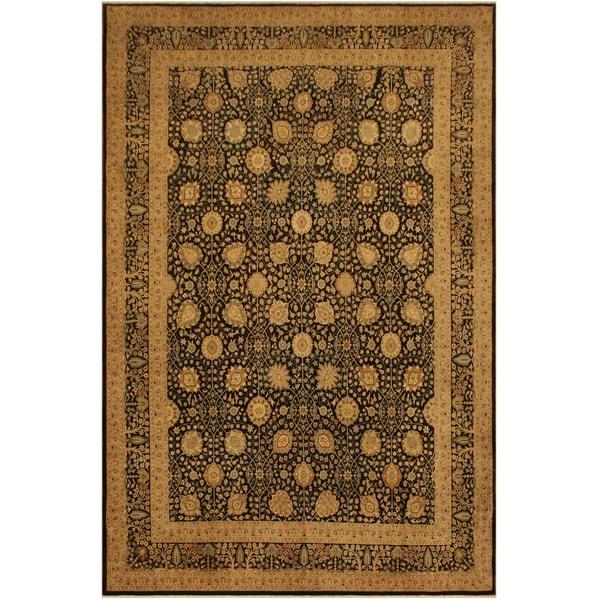 Istanbul Arline Brown/Tan Wool Rug (9'3 x 12'6) - 9 ft. 3 in. x 12 ft. 6 in.