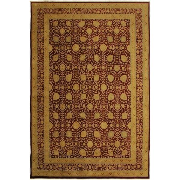 Istanbul Effie Drk. Red/Drk. Red Wool Rug (10'1 x 14'3) - 10 ft. 1 in. x 14 ft. 3 in.
