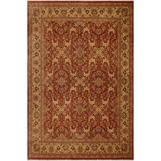 Istanbul Vilma Rust/Gold Wool Rug (8'5 x 12'7) - 8 ft. 5 in. x 12 ft. 7 in.
