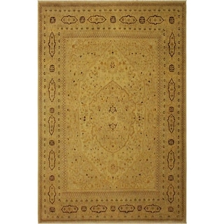 Istanbul Young Tan/Tan Wool Rug (8'10 x 11'4) - 8 ft. 10 in. x 11 ft. 4 in.