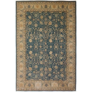 Vegtable Dye Istanbul Briana Lt. Blue/Lt. Tan Wool Rug (9'2 x 12'0) - 9 ft. 2 in. x 12 ft. 0 in.