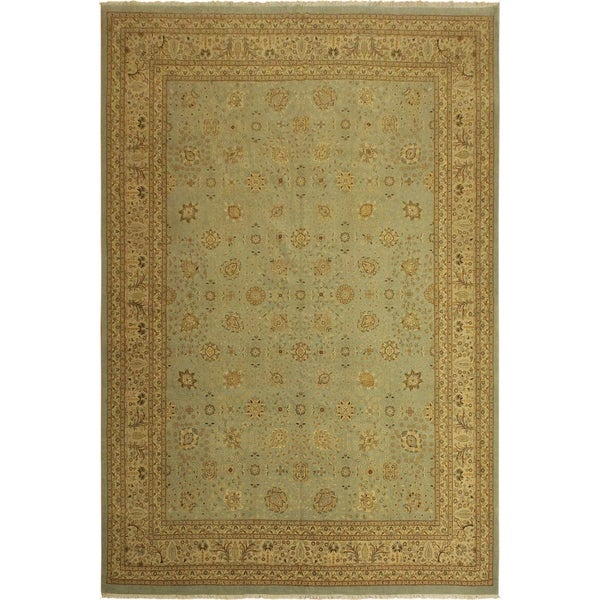 Istanbul Katherin Lt. Blue/Tan Wool Rug (10'2 x 14'0) - 10 ft. 2 in. x 14 ft. 0 in.