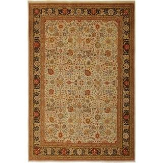 Istanbul Kathie Lt. Gray/Brown Wool Rug (8'10 x 11'7) - 8 ft. 10 in. x 11 ft. 7 in.