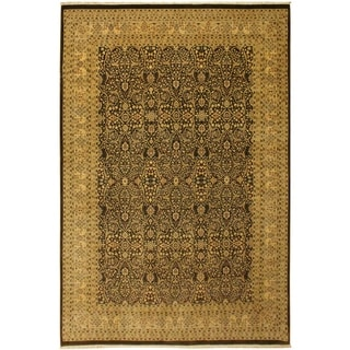 Tabriz Istanbul Imelda Brown/Tan Wool Rug (9'3 x 12'5) - 9 ft. 3 in. x 12 ft. 5 in.