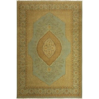 Istanbul Shay Lt. Blue/Lt. Blue Wool Rug (10'1 x 14'0) - 10 ft. 1 in. x 14 ft. 0 in.