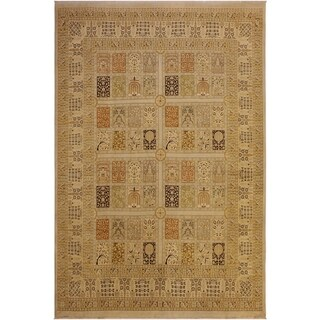 Istanbul Iluminad Lt. Gray/Lt. Gray Wool Rug (8'4 x 9'10) - 8 ft. 4 in. x 9 ft. 10 in.