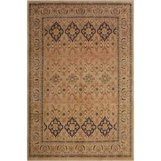 Vegtable Dye Kashan Pak-Persian Mattie Ivory/Ivory Wool Rug (8'1 x 10'1) - 8 ft. 1 in. x 10 ft. 1 in.