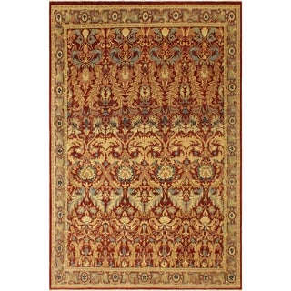 Istanbul Loyce Red/Red Wool Rug (9'0 x 11'9) - 9 ft. 0 in. x 11 ft. 9 in.
