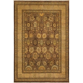 Istanbul Chasity Brown/Tan Wool Rug (9'1 x 11'11) - 9 ft. 1 in. x 11 ft. 11 in.