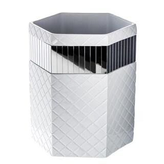 Quilted Mirror Bathroom Wastebasket