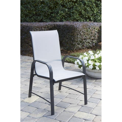 COSCO Outdoor Living Steel Patio Dining Chairs, 6-Pack