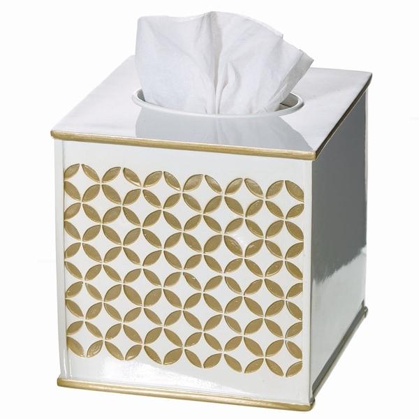 Diamond Lattice Bathroom Wastebasket