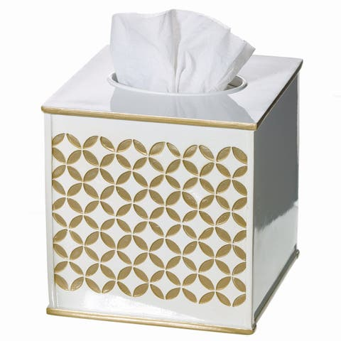 Diamond Lattice Bathroom Wastebasket