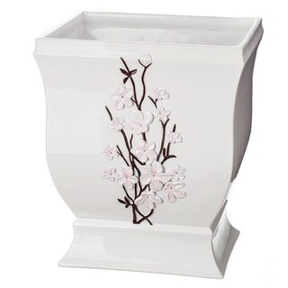 Vanda Bathroom Wastebasket (White)