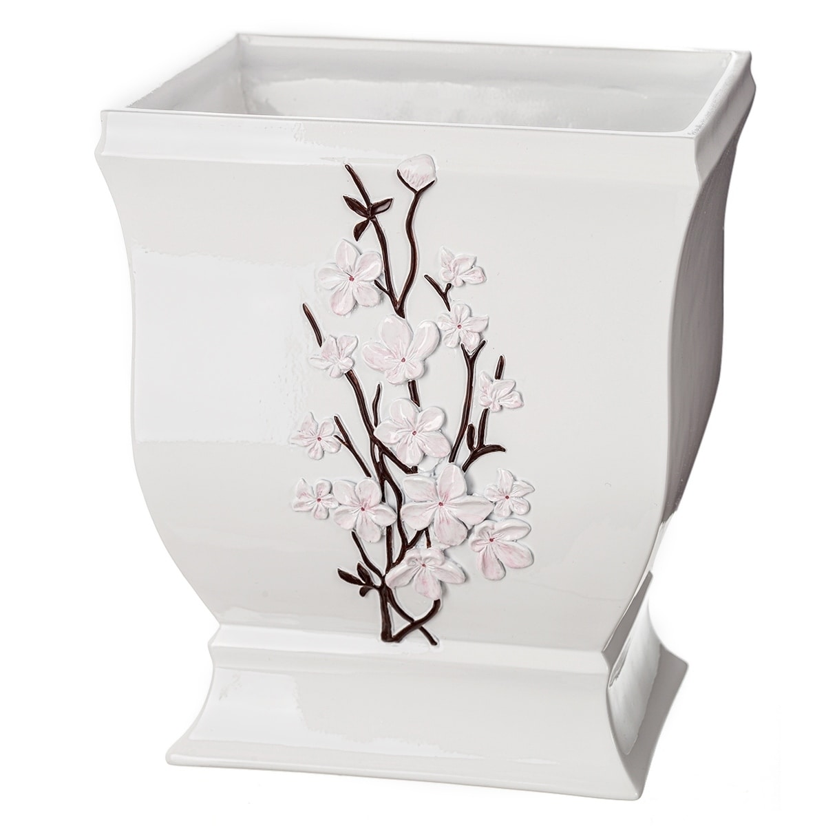 Vanda Bathroom Wastebasket White On Sale Overstock 25642090