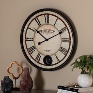 Vintage Style Matte Black Finished Wall Clock