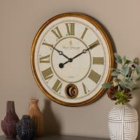 Vintage Style Antique Gold Finished Wall Clock